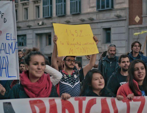 1992 y la blanquitud sigue matando, manifestación en Madrid / Najim Ouled